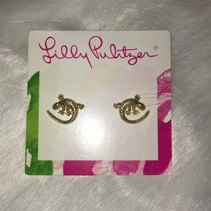 Lilly Pulitzer new Leaping Lizard earrings